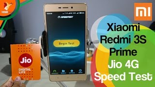 Jio 4G Speed Test on Xiaomi Redmi 3S Prime 3gb Ram | Data Dock