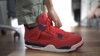 "THESE ARE NOT WORTH $200! ""FIBA"" AIR JORDAN 4 ON FEET! WATCH BEFORE YOU BUY!"