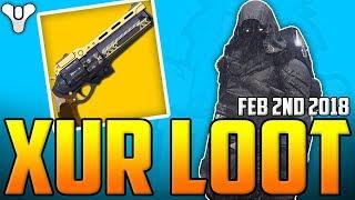 Destiny  - Xur Sells THE LAST WORD ! - Xur's Loot & Location - D1 & D2 - February 2nd 2018