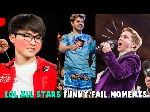 LOL ALL-STARS 2016 FUNNY/FAIL MOMENTS - League of Legends