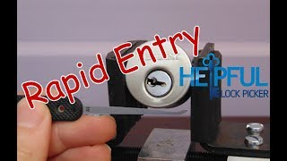 [109] Lock Picking Rapid Entry Techniques (Standard Pins)