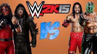 WWE 2K15: Rey Mysterio & Jey Uso VS The Undertaker & Kane [FR//HD]