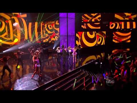 Pitbull - Don't Stop The Party   Feel This Moment (american Music Awards 2012) Hd video