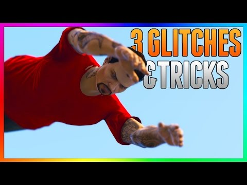 GTA 5 Online - 3 NEW GLITCHES & TRICKS (Secret Wallbreach, Funny Diving Glitch & Floating Glitch)