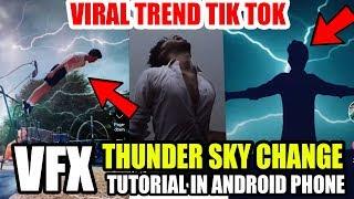 THUNDER EFFECT VFX TRENDING TIK TOK TUTORIAL ! Tik Tok Par Thunder Effect Viral Video Kaise Banaye