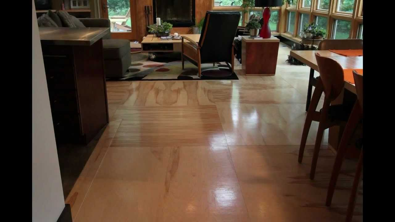 Installing a plywood floor youtube for Installing 3 4 inch hardwood flooring