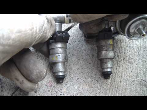 DIY Auto: Injector Swap. Fuel rail, Fuel pressure regulator removal & instal