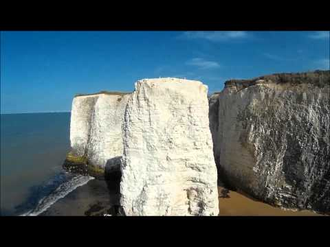 The beautiful Botany bay in Kent filmed by a drone