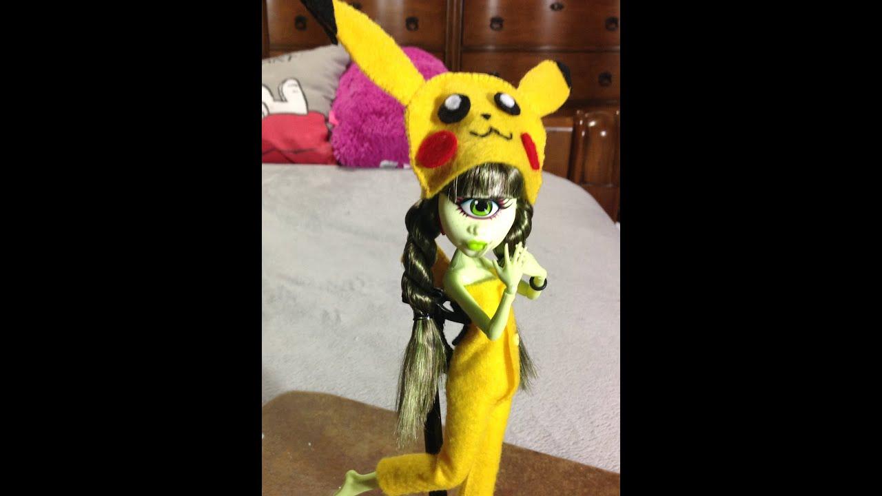 Como Hacer Un Disfraz Kawaii De Pikachu Para Tus Muecas ...
