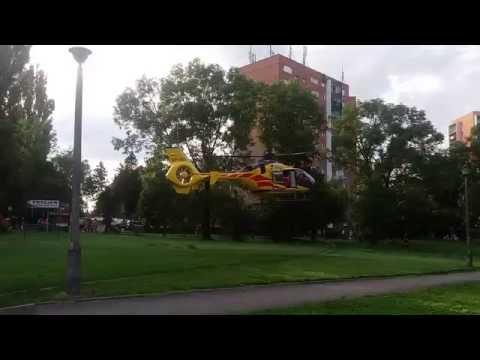 Start śmigłowca Lotniczego Pogotowia Ratunkowego W Gliwicach 20.07.2016 Gliwice