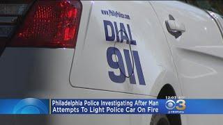 Police: Man Attempted To Light Philadelphia Police Car On Fire In Kensington