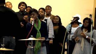 "Calandria Allen singing ""Good News"" by Vanessa Bell Armstrong"