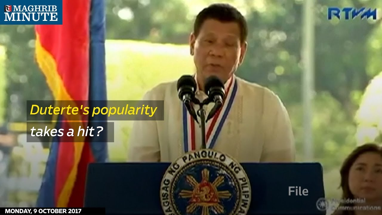 Duterte's popularity takes a hit?