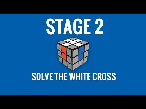 Stage 2   Solve the White Cross of the Rubik's Cube