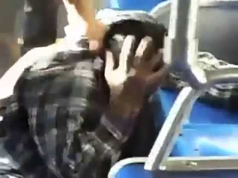 A punk on the bus gets owned by 67 year old Vietnam Vet (dont harass a vet)