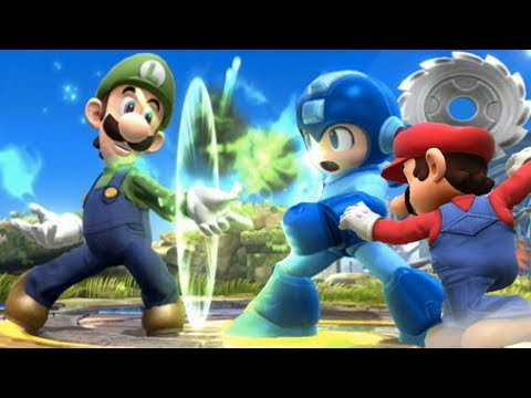 Super Smash Bros 4 Characters: Luigi Trailer (WII U / 3DS Gameplay Screenshots) 【All HD】