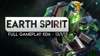 DOTA 2-- Immortal Earth Spirit Full Gameplay Patch 7.19--KDA --13-1-17