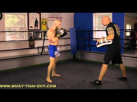 Muay Thai Drills - Basic Muay Thai Combination Pad Work Image 1