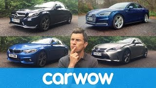 Audi A5 vs Mercedes C-Class Coupe vs BMW 4 Series vs Lexus RC | Head2Head