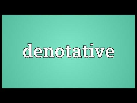 Header of denotative