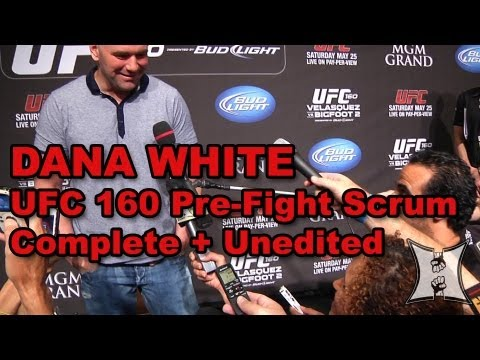Dana White UFC 160 PreFight Media Scrum TRT Caraway Backlash Marijuana in MMA Twitter policy