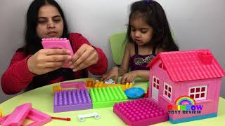 Rainbow ToysReview Baby & Mom Learn Colors Build A Dream House for Kids Toddlers Midi Blocks Playset