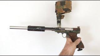 Stainless Long Barrel Nelspot 007 Pump Paintball Gun c.~1987