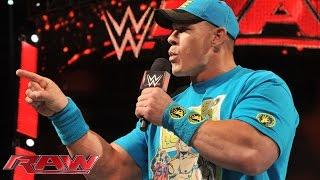 John Cena addresses his loss to Rusev at WWE Fastlane: Raw, February 23, 2015