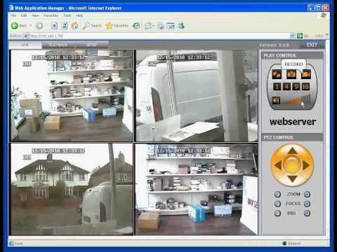 Quick demo logging into the CCTV DVR remotely viewing the CCTV cameras