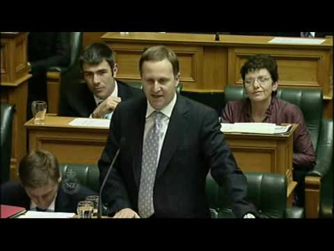 18 September. John Key and Bill English confront Labour