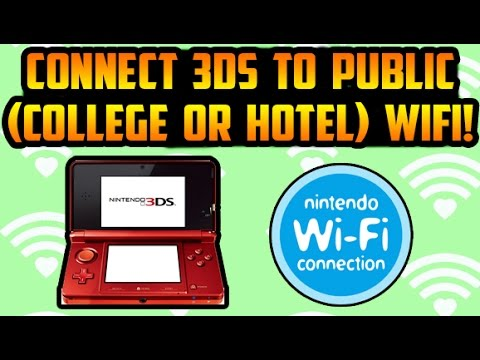 How To Connect 3DS To Public (College or Hotel) Wifi Easily & Legally
