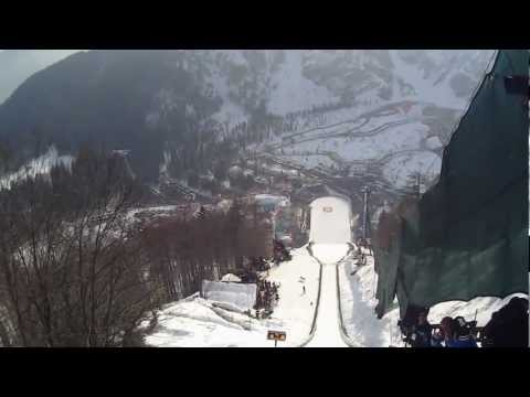 Helmet camera WORLD RECORD SKI JUMP: Jurij Tepes Planica 2013