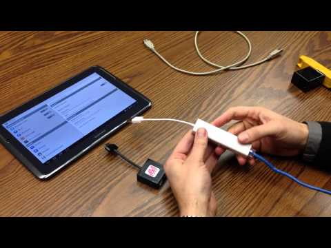 Demo of wired ethernet on a charging Samsung Galaxy Tab 2 with the LAVA USB Host/Charging Adapter