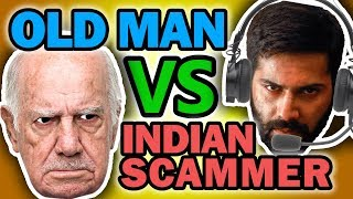 """""""THROW THE COMPUTER"""" Old Man Riles Up INDIAN TECH SUPPORT SCAMMER (Prank Call) - House of Pranksters"""