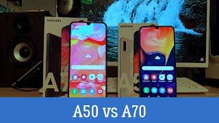Сравнение Samsung Galaxy A50 и A70