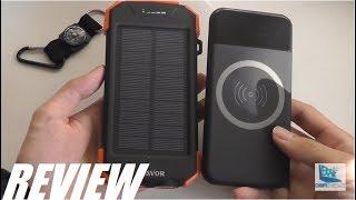 REVIEW: Qi Wireless Solar Power Bank (10,000mAh, $30)
