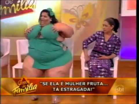 Mulher Fruta Pão no palco do programa Casos de Família 09/09/2011