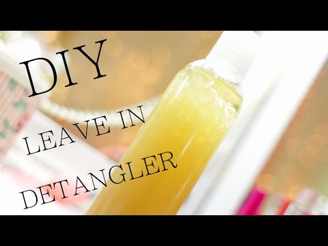 DIY All Natural Leave In Detangler for Natural Hair