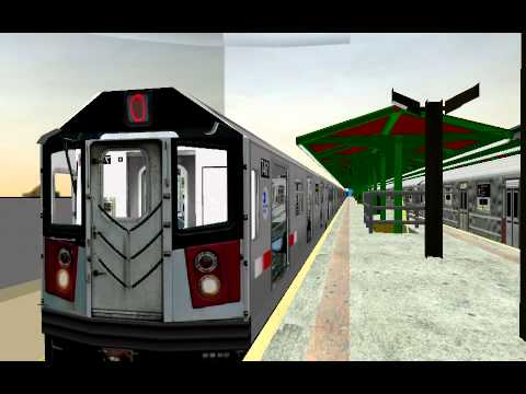 OpenBve NYCT R142A 7 train arrives and leaves Bayside