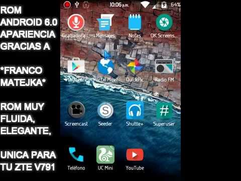 ZTE-V791- Vtelca Caribe 3 Review Rom Android 6.0 M Apariencia By F. Matejka