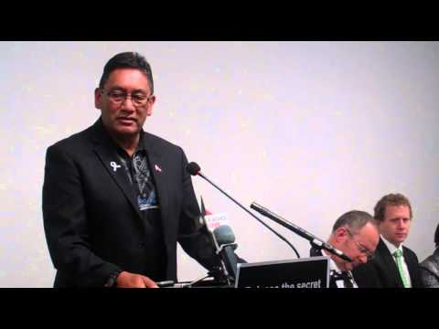 Mana Party Leader Hone Harawira speaks against Trans-Pacific Partnership Agreement