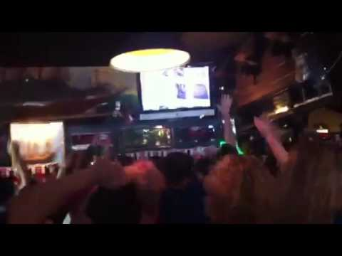 Chelsea vs. Barcelona UEFA 2012 (The Olde Ship Pub) Torres goal celebration
