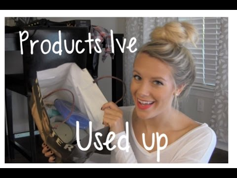 Products Ive Used Up: Empties