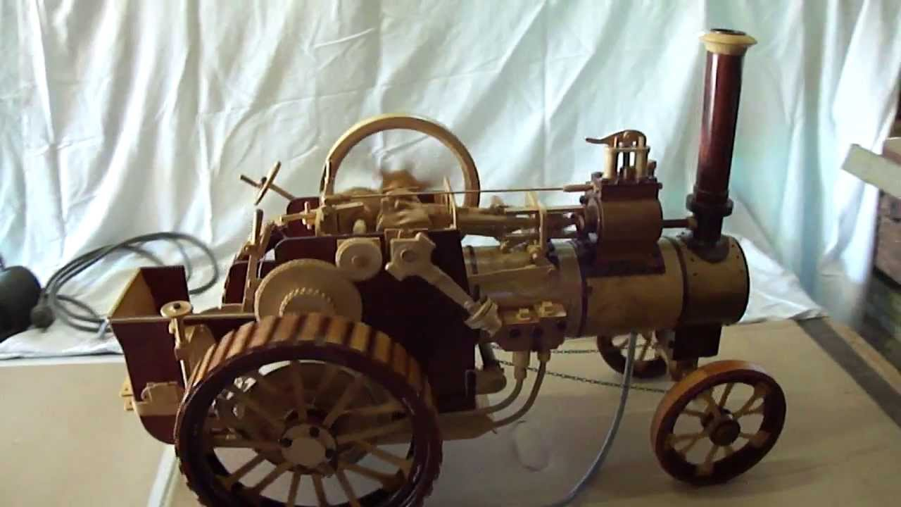 Model Quot Minnie Quot Steam Traction Engine In Wood 3 Of 3