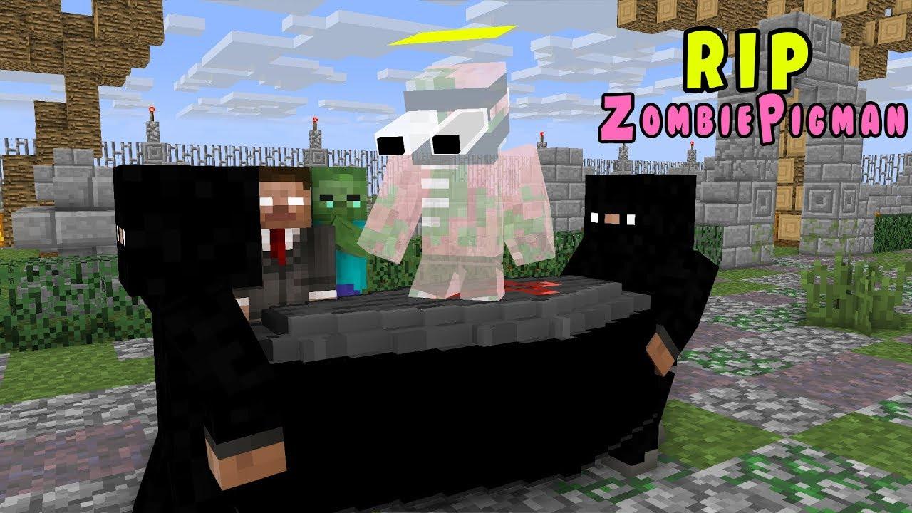 Monster School: RIP ZOMBIE PIGMAN - Minecraft Animation