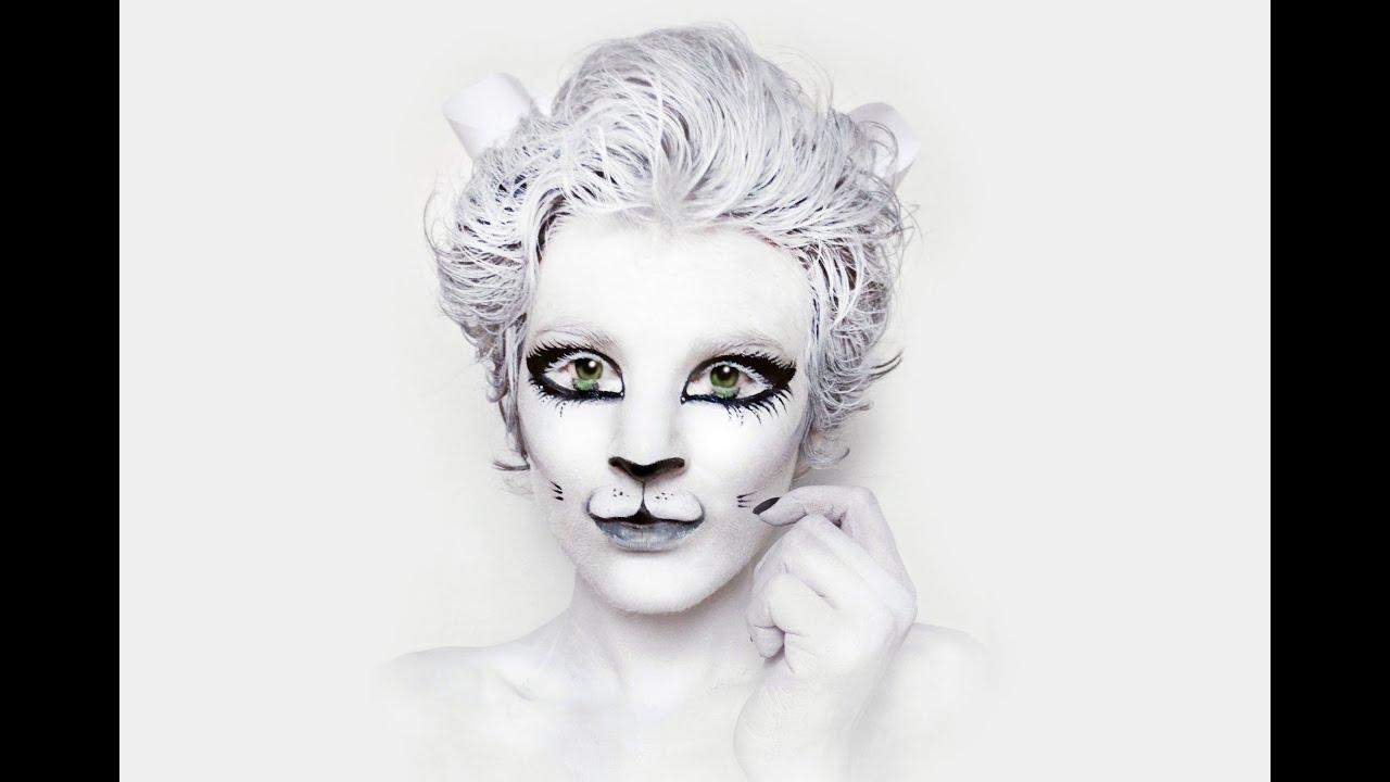 white kitty cat face painting natasha kudashkina youtube. Black Bedroom Furniture Sets. Home Design Ideas