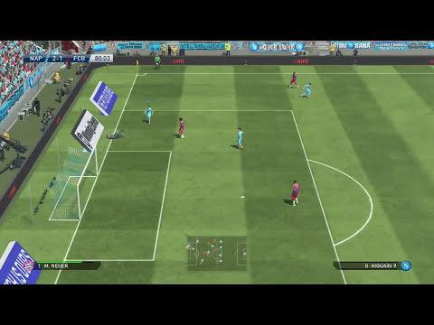 Napoli Vs Bayen Munich en PES 2015 - el poder goleador de la cresta de Hamsik!!!, Gameplay PS4