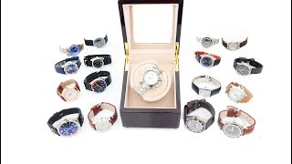 CHIYODA Automatic Single Watch Winder with Quiet Mabuchi Motor For Rolex, Seiko, Omega