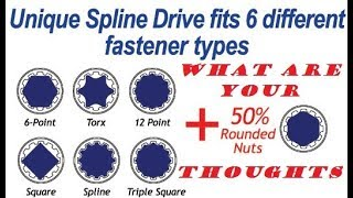 6 Point VS 12 Point VS Spline Drive