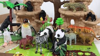 Wild Animals Toys Names & Sounds For Kids Children Toddlers - Fun Animals Find Mom | Nursery Rhymes